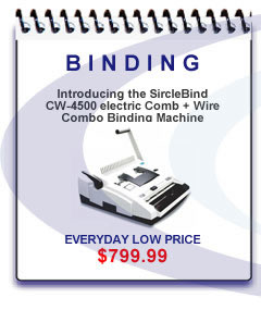 Sircle is proud to announce the arrival of the SircleBind CW-4500 Electric Comb & Wire Combo Binding Machine. This 2:1 & 3:1 electric wire binding machines is packed with all of the essential features that makes it the preferred choice of professionals, schools, and copy centers.